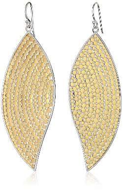Anna Beck Designs - Bali Large Leaf Gold Plated Earrings
