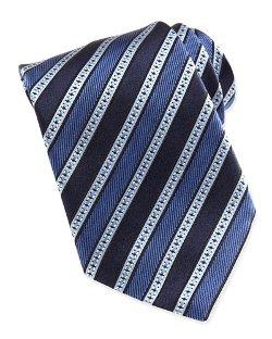 Ermenegildo Zegna  - Multi Grosgrain Stripe Silk Tie