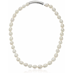 Cole Haan - Knotted & Metal Pearl Necklace