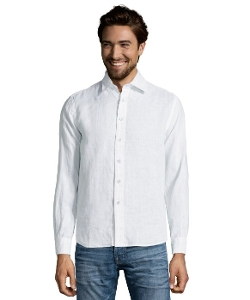 Report Collection  - Linen Point Collar Button Front Shirt