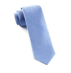The Tie Bar - Sand Wash Solid Linen Blend Skinny Tie