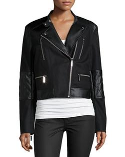 Michael Michael Kors - Combo Moto Jacket
