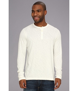 French Connection - Henley Slub Long Sleeve Shirt