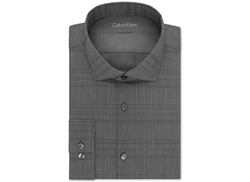 Calvin Klein  - Extra Slim-Fit Carbon Check Dress Shirt