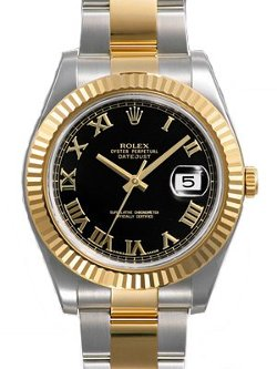 Rolex  - Datejust II Fluted Bezel Two Tone Oyster Watch