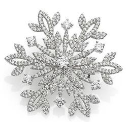 Adriana Orsini - Pavé Sterling Silver Snowflake Brooch