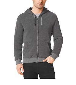 Michael Kors - Lined Zip-Up Cotton Hoodie Jacket