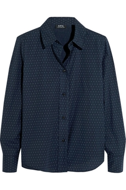 A.P.C. Atelier De Production ET De Création - Polka-Dot Cotton Shirt