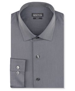 Kenneth Cole Reaction - Slim-Fit Solid Dress Shirt