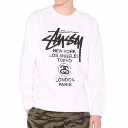 Stussy - World Tour Crew Sweatshirt