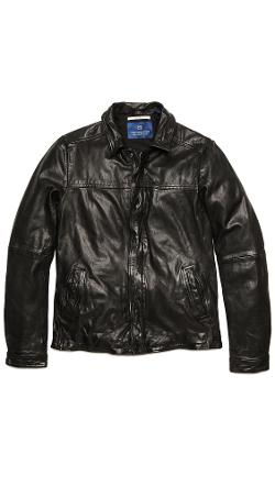 Scotch & Soda  - Vintage Style Leather Jacket