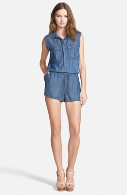 7 For All Mankind - Sleeveless Denim Romper