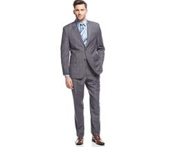 Sean John  - Plaid Peak-Lapel Suit
