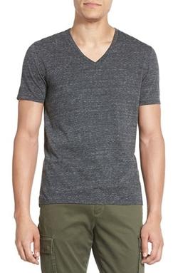 Vince - Jaspe Marl V-Neck T-Shirt