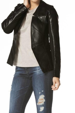 Towne - Faux Leather Blazer