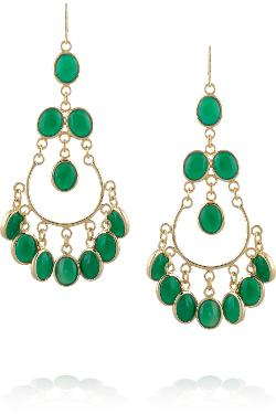 Isharya  - Gold-Plated Agate Earrings