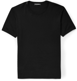 Dolce & Gabbana - Cotton-Jersey Crew Neck T-Shirt