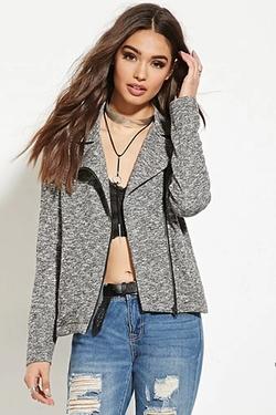 Forever 21 - Marled Knit Moto Jacket