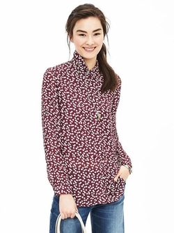Banana Republic - Painterly Dot Blouse