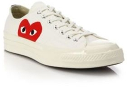 Comme des Garcons - Play Peek-A-Boo Canvas Low-Top Sneakers
