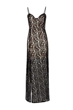Boohoo Night - Rosie Contrast Lace Maxi Dress