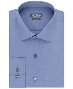 Kenneth Cole - Reaction Slim-Fit Dobby Solid Dress Shirt