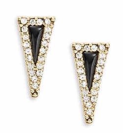 House Of Harlow 1960  - Acute Triangle Stud Earrings