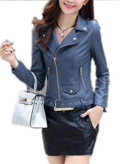 Vionr - Biker Faux Leather Jacket