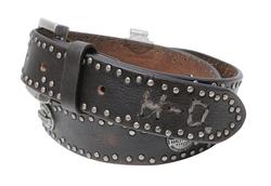 Harley-Davidson - Mens Nickel Genuine Stud Belt