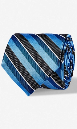 Express - Tonal Stripe Narrow Silk Tie