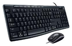Logitech  - Media Combo MK200 Full-Size Keyboard and High-Definition Optical Mouse