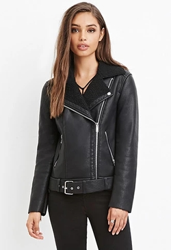 Forever 21 - Faux Shearling Moto Jacket