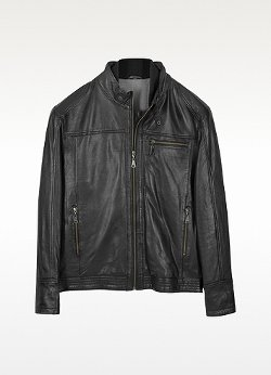 Moreschi  - Burgos Black Leather Motorcycle Jacket