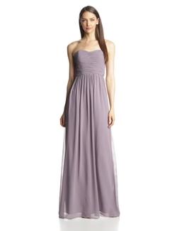 Donna Morgan - Stephanie Long Strapless Chiffon Dress