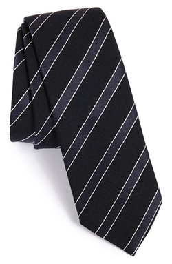 Boss - Stripe Silk & Wool Tie