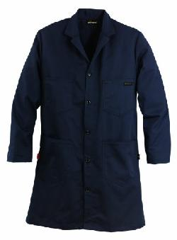 Workrite  - Flame Resistant 9.5 oz UltraSoft Lab Coat, Large, Regular Length, Navy Blue