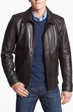 Vince Camuto - Leather Bomber Jacket