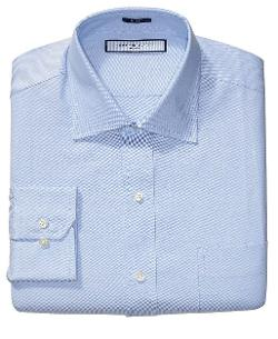 Tommy Hilfiger - Big and Tall Solid Blue Oxford Dress Shirt
