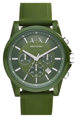 AX Armani Exchange - Chronograph Silicone Strap Watch
