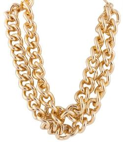 JOTW - Gold Double Layer Toggle Style 19 Inch Chain Necklace