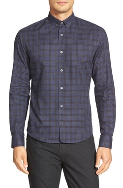 Bespoken -  Slim Fit Plaid Sport Shirt