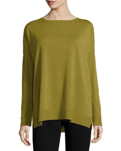 Eileen Fisher - Merino Jersey Box Top