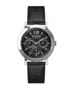 Versus Versace - Manhasset Leather-Strap Bracelet Watch