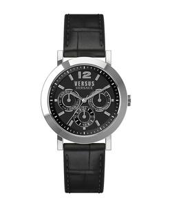 Versus Versace - Manhasset Leather-Strap Bracelet Watch