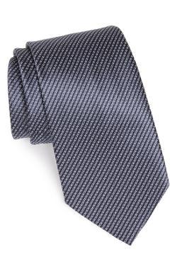 Ermenegildo Zegna  - Mini-Stripe Print Silk Tie