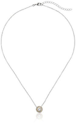 CZ by Kenneth Jay Lane - Round Cubic Zirconia Classic Pendant Necklace