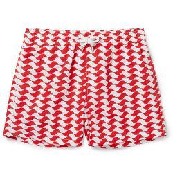 Frescobol Carioca   - São Paulo Mid-Length Printed Swim Shorts