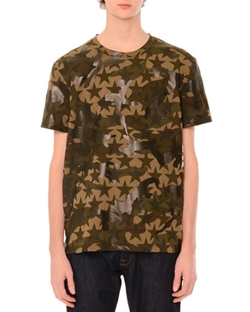 Valentino - Camo & Star-Print Short-Sleeve T-Shirt