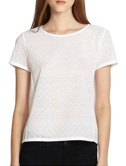 Theory - Micro Eyelet Summer Shell Top