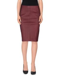 Vince - Knee Length Leather Skirt